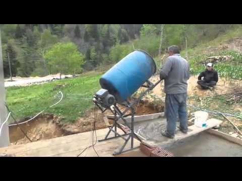 Homemade Cement Mixer By DR.ASİL BERK
