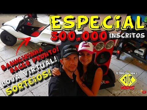 ESPECIAL 300.000 INSCRITOS!!! SORTEIOS, MINI BUGGY & LOJA VIRTUAL...JuNiOr SoM