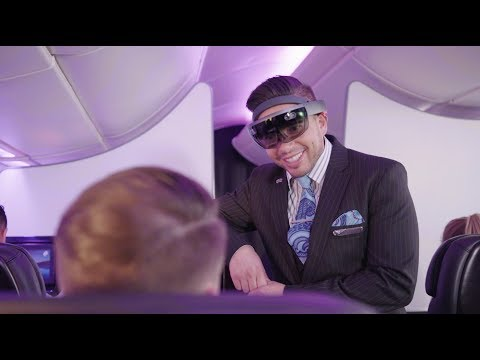 Microsoft HoloLens Inflight at Air New Zealand © Air New Zealand