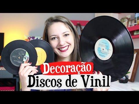 3 decorações Disco Vinil