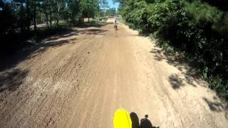 1. KTM 150 VS. Suzuki RM 125 two stroke battle at Rio Bravo MX 101 degrees out