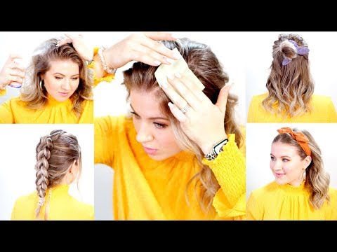 Hairstyles for short hair - How To Conceal Oily Hair Hacks  Milabu