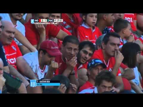 Gol de Bou. Independiente 0 – Racing 1. Ida. Liguilla Pre-Libertadores. Primera División 2015.