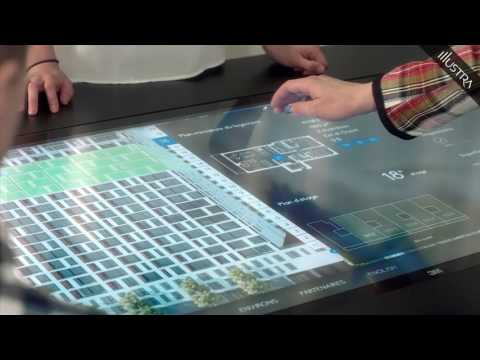 Real time 3D interactive multitouch application for sales and property management