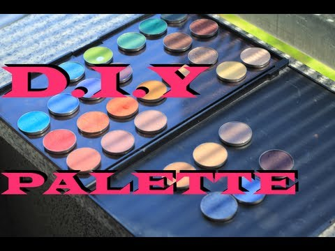DIY Freestyle MAGNETIZED eyeshadow makeup Palette