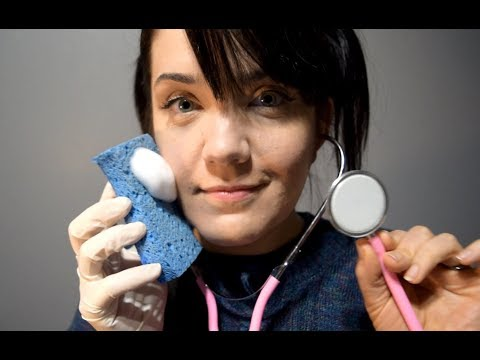 ASMR Heart Testing, EKG and Sponge Bath - Soft Talking, Gloves