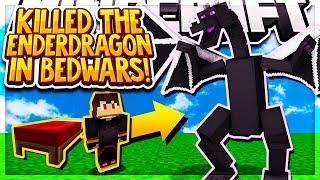 KILLING THE ENDER DRAGON CHALLENGE IN BEDWARS!! (Minecraft BEDWARS)