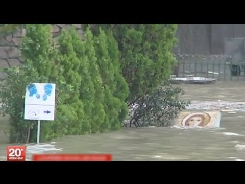 Lourdes: floods descend on French pilgrim town