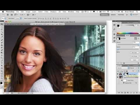 photoshopped how to remove background around lots of hair photoshop