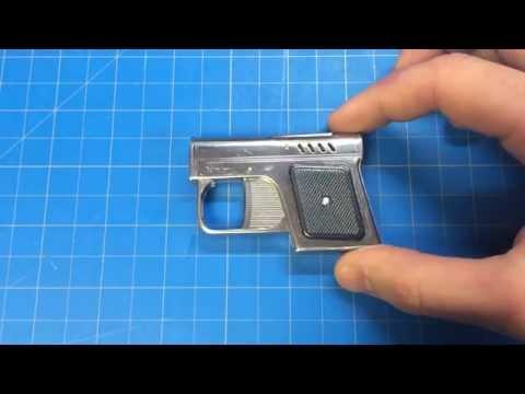 RARE! Romanian1960 Econ Fagaras Pistolette Lighter w/ Magazine!