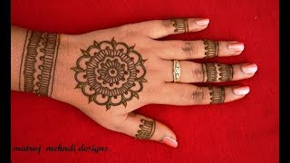 hello all,here is a video on easy mehndi designs for hands.https://www.instagram.com/divya080/subscribe for more videos:https://www.youtube.com/channel/UCECgulN13NACgO49LRXeQpAfacebook : https://www.facebook.com/Matroj-Mehndi-Designs-284372255239829/