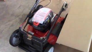 3. Husqvarna LC121P lawn mower unboxing