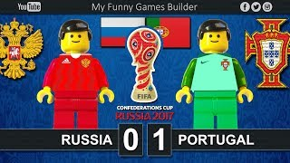 Brick film reconstruction of the FIFA Confederations Cup Russia 2017 between Russia and PortugalFIFA Confederations Cup Russia 2017 / First stage - Group ARussia vs Portugal 0-1- Ronaldo  8'Moscow (RUS)21 June 2017-----------------------------------------------------------------------------------------------------Top Link Competitions:- Champions League • https://www.youtube.com/playlist?list=PLDgxLNKesJl59dj09mFzcegFIPp6WuZzr - Serie A • https://www.youtube.com/playlist?list=PLDgxLNKesJl4TjpWj4a2DVmglqt4p6fUu - LaLiga • https://www.youtube.com/playlist?list=PLDgxLNKesJl59dj09mFzcegFIPp6WuZzr - Premier League • https://www.youtube.com/playlist?list=PLDgxLNKesJl7i36gCR5CicjPy_wRCDYuO - FIFA World Cup • https://www.youtube.com/playlist?list=PLDgxLNKesJl6D9GsBdjq3lngqH-AYc8EvTop Link Club:- Real Madrid CF • https://www.youtube.com/playlist?list=PLDgxLNKesJl56wTYUI1DoIGPoQHYzI9vk - FC Barcelona • https://www.youtube.com/playlist?list=PLDgxLNKesJl495fjfDEcLABBuWTAhB5L1 - Chelsea • https://www.youtube.com/playlist?list=PLDgxLNKesJl7bYGLGK3YuzDiq_2_nAPEA - Manchester United • https://www.youtube.com/playlist?list=PLDgxLNKesJl6HKGMfEMxhRpAHfJMeNDom- Juventus FC • https://www.youtube.com/playlist?list=PLDgxLNKesJl7_LsTYvAWQMlpIA6rJ32Hm - AC Milan • https://www.youtube.com/playlist?list=PLDgxLNKesJl5lOf_KfRfmP0Cciwhpr4cR - FC Inter • https://www.youtube.com/playlist?list=PLDgxLNKesJl6ccUhR3yipMwKRh44WQR10 - SSC Napoli • https://www.youtube.com/playlist?list=PLDgxLNKesJl6hHHfUC1qhA_mxbIf8h-eQ - AS Roma • https://www.youtube.com/playlist?list=PLDgxLNKesJl4q9am3RuaTzjKa3TJHgEHo Top Link Finals: https://www.youtube.com/playlist?list=PLDgxLNKesJl4RZ4B0njyFrWB9Ayb7-EYF-----------------------------------------------------------------------------------------------------LEGO® is a trademark of the LEGO Group of companies which does not sponsor, authorize or endorse this channel.