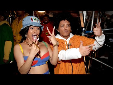 Bruno Mars and Cardi B Are Funky and Fresh Performing 'Finesse' at the GRAMMYs -- Watch!