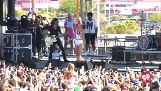 Miley Cyrus Crying - Wrecking Ball iHeartRadio Music Festival Village