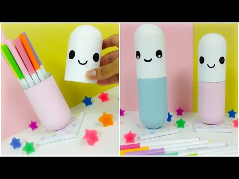 EASY CRAFTS:GIANT kawaii pills(you can use them as room decor or as a container)
