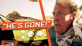 On The Grand Tour Namibia special, Jeremy Clarkson, Richard Hammond and James May traverse some spectacular dunes. Unfortunately, not everything goes to plan...