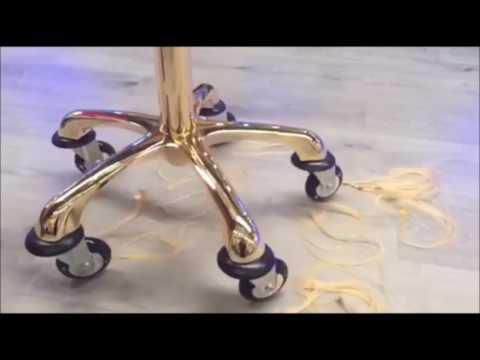 Taburete ruedas anti pelos, sistema rollercoaster