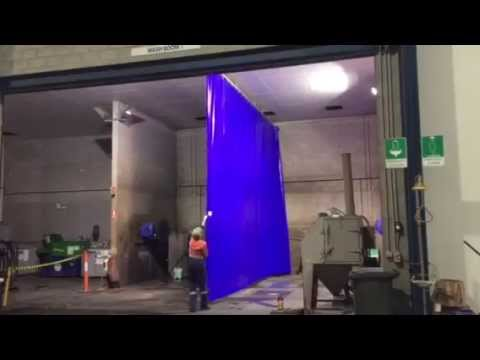 Flexshield Splash Control Screens for Wash Bays