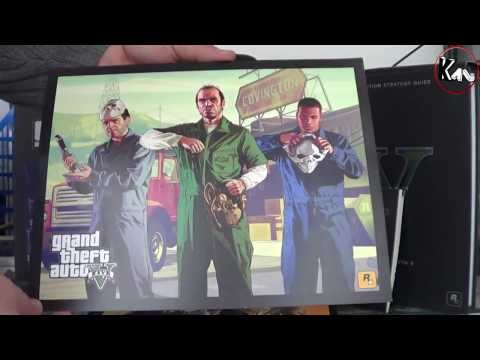 Unboxing GTA V Limited Edition + Guide collector Ps3 (Euro Version)