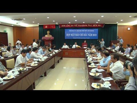 Lãnh đạo TP Hồ Chí Minh gặp mặt báo chí đầu năm 2019