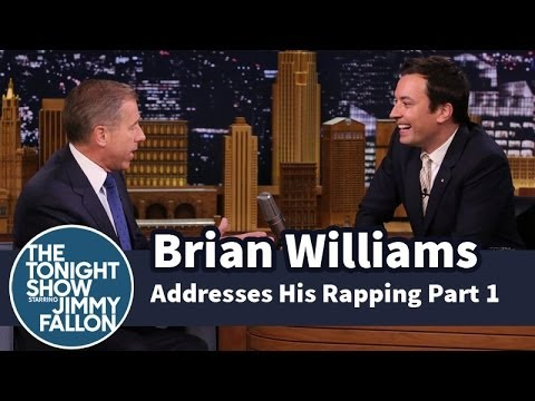Brian Williams addressing his rapping on Jimmy Fallon.