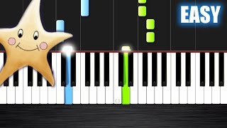 Twinkle Twinkle Little Star - EASY Piano Tutorial Ноты и МИДИ (MIDI) можем выслать Вам (Sheet music