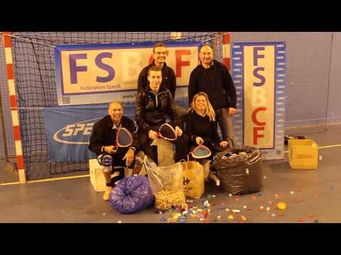 Speed badminton - Opération Un Bouchon Une Espérance avec la FSBCF
