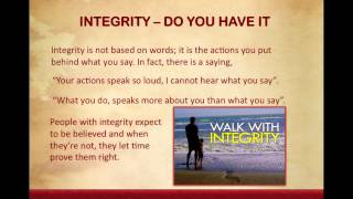 Lesson 10 Integrity Do You have It?