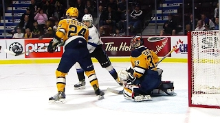 Veleno bats puck out of mid-air to tie game between Otters & Sea Dogs by Sportsnet Canada