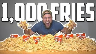 1,000 FRENCH FRY CHALLENGE (mcdonalds french fries eating challenge)