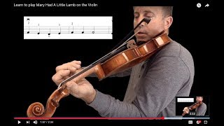Learn to play Mary Had A Little Lamb on the Violin