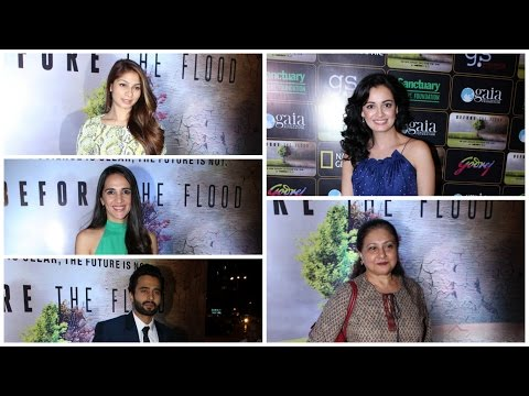 "Bollywood Celebs Attend The Screening Of Leonardo Dicaprio's ""Before The Flood"" In India"