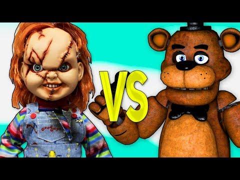 ЧАКИ VS ФРЕДДИ 5 НОЧЕЙ С ФРЕДДИ   СУПЕР РЭП БИТВА   Chucky Doll movie ПРОТИВ 5 Nights At Freddy's