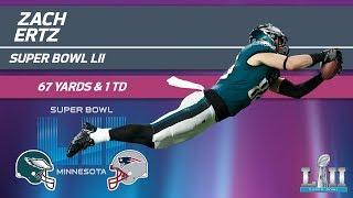 Zach Ertz's HUGE Game in Super Bowl LII | Eagles vs. Patriots | Super Bowl LII Player Highlights