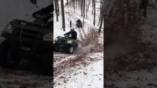 9. Kawasaki Brute Force Crash România