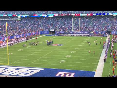 New York Giants vs Cleveland Browns Preseason 2018-National anthem
