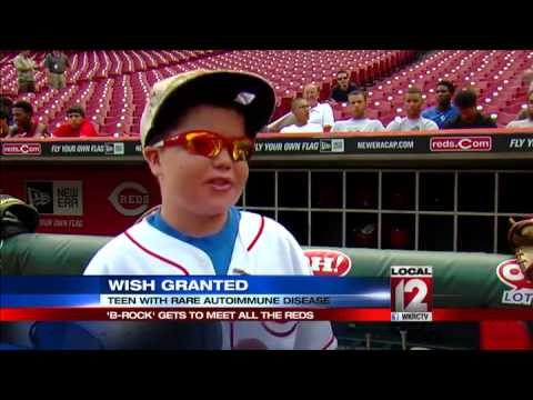 Make-A-Wish helps 'B-Rock' meet the Cincinnati Reds