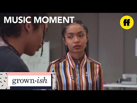 """grown-ish   season 1, episode 10 music: a$ap rocky - """"l$d""""   freeform"""