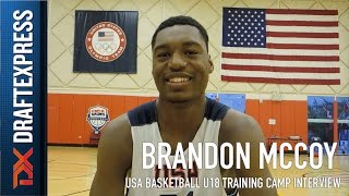 Brandon McCoy USA Basketball U18 Training Camp Interview