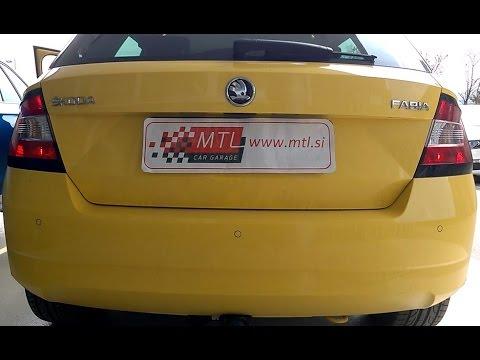 Skoda Fabia 3 - rear lights as DRL activation - vključitev zadnjih luči v funkciji dnevnih luči (видео)