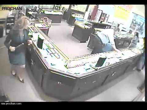 robber - Customer takes down robber in a jewelry store October 5, 2012 a citizen shopping for a ring to give to his girlfriend took quick action to deny a robbery att...