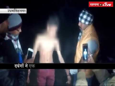 Video: Dabangs brutally beaten a 12-year-old child in the charges of theft and drug addict