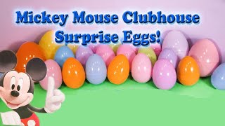 Opening  Mickey Mouse Funny Surprise Eggs  and Toys with the Assistant