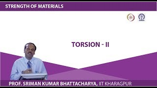 Lecture - 19 Torsion - II