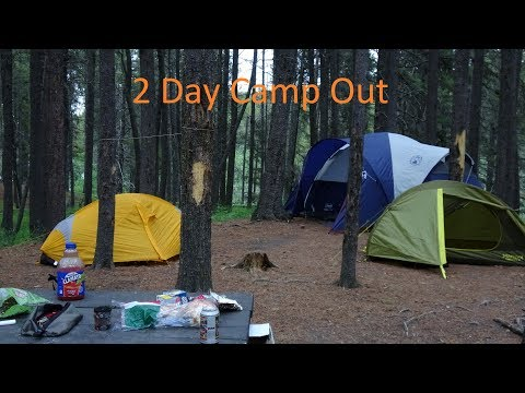 Al's Tent is WAY TOO BIG - 2 Day Camp Out + Testing Kindling + Bushcraft Tongs