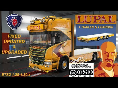 SCANIA LUPAL & TRAILER OWNED ETS2 1.34.x