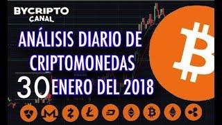ANALISIS TÉCNICO DE CRIPTOMONEDAS BITCOIN RIPPLE ETHEREUM CASH LITECOIN 30 ENERO 2018 HOY