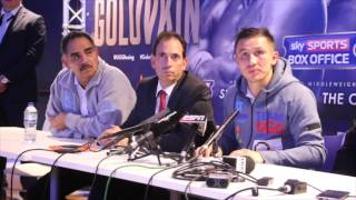 GOLOVKIN v KELL BROOK - POST FIGHT PRESS CONFERENCE