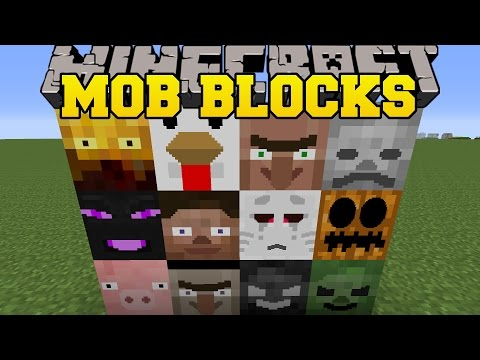 Minecraft: MOB BLOCKS (GAIN THE POWER OF MOBS, & CREATE THEM!) Mod Showcase